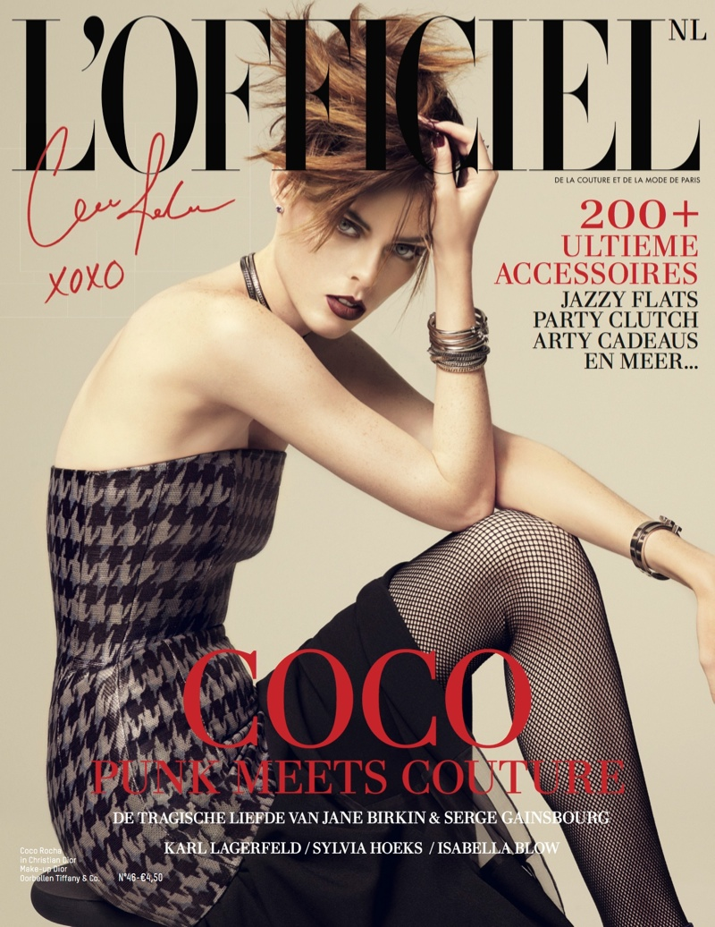 coco rocha lofficiel cover Coco Rocha Goes Punk on LOfficiel Netherlands Dec/Jan 13.14 Cover