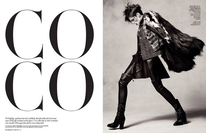coco rocha lofficiel shoot1 Coco Rocha Rocks the New Style for LOfficiel Netherlands Spread
