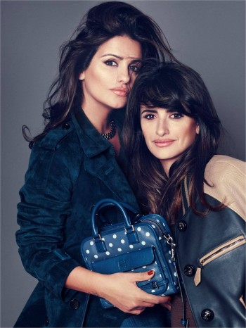 "Sisters Penélope & Mónica Cruz Star in Loewe's ""Cruz"" Bag Ads"