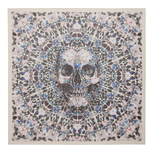 damien hirst mcqueen scarves1 New Collab: Damien Hirst & Alexander McQueen Launch Scarf Collection