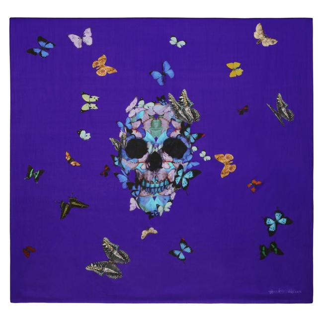 damien hirst mcqueen scarves3 New Collab: Damien Hirst & Alexander McQueen Launch Scarf Collection