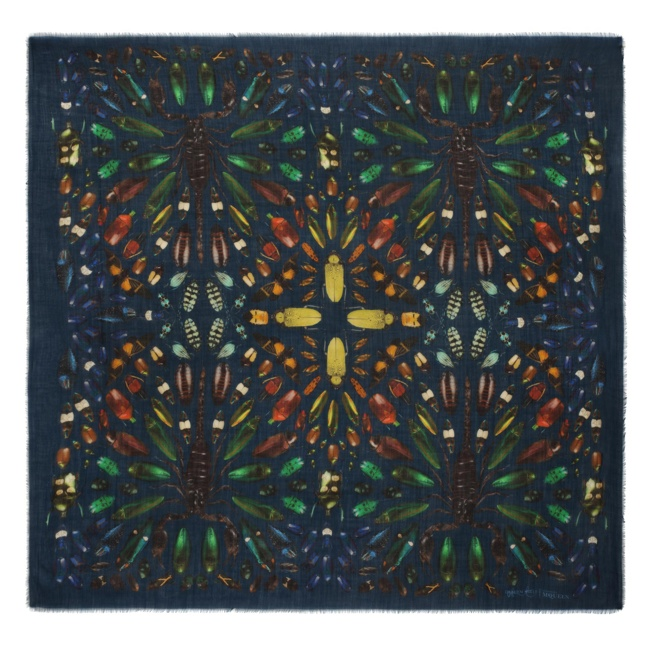 damien hirst mcqueen scarves5 New Collab: Damien Hirst & Alexander McQueen Launch Scarf Collection