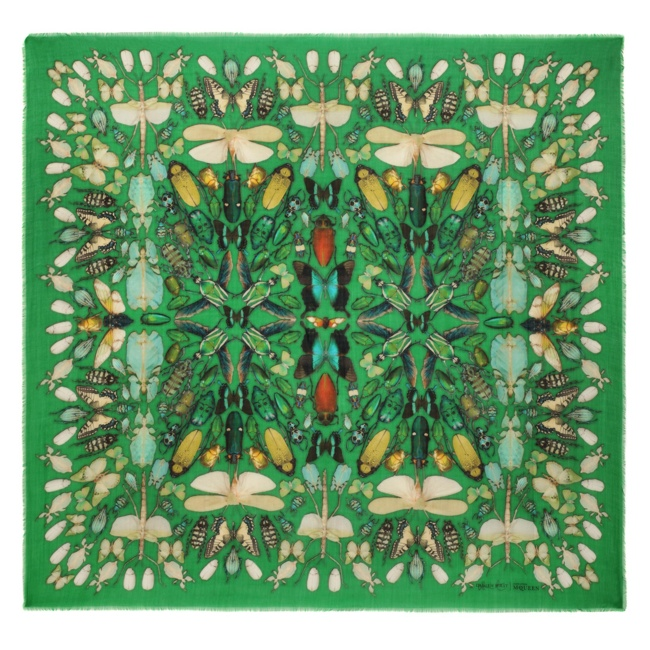 damien hirst mcqueen scarves6 New Collab: Damien Hirst & Alexander McQueen Launch Scarf Collection