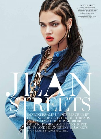 Daniela Braga Wears Denim with Attitude for Marie Claire by Aingeru Zorita
