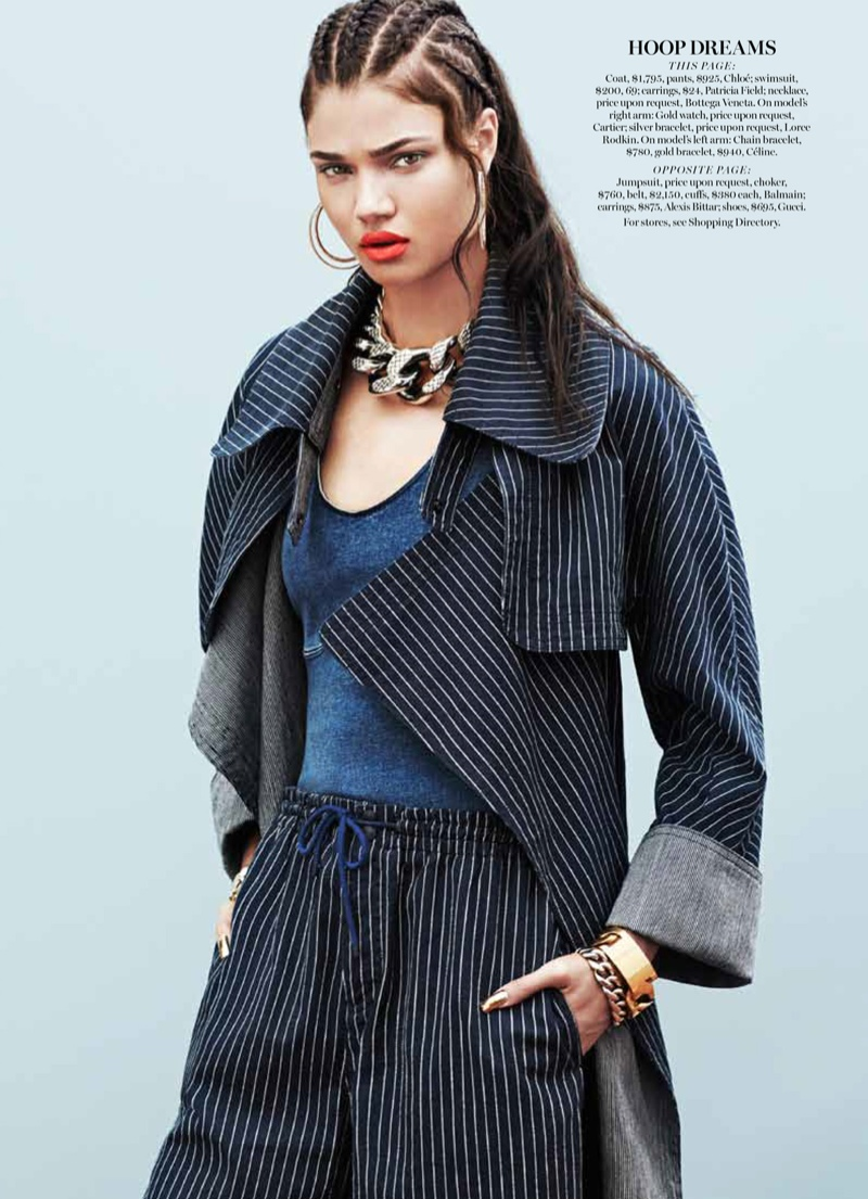 daniela braga pictures8 Daniela Braga Wears Denim with Attitude for Marie Claire by Aingeru Zorita
