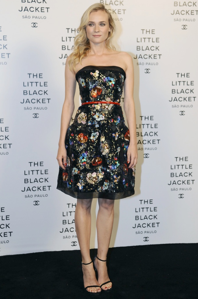 diane kruger chanel couture1 Diane Kruger Wears Chanel at the Little Black Jacket Event in Brazil