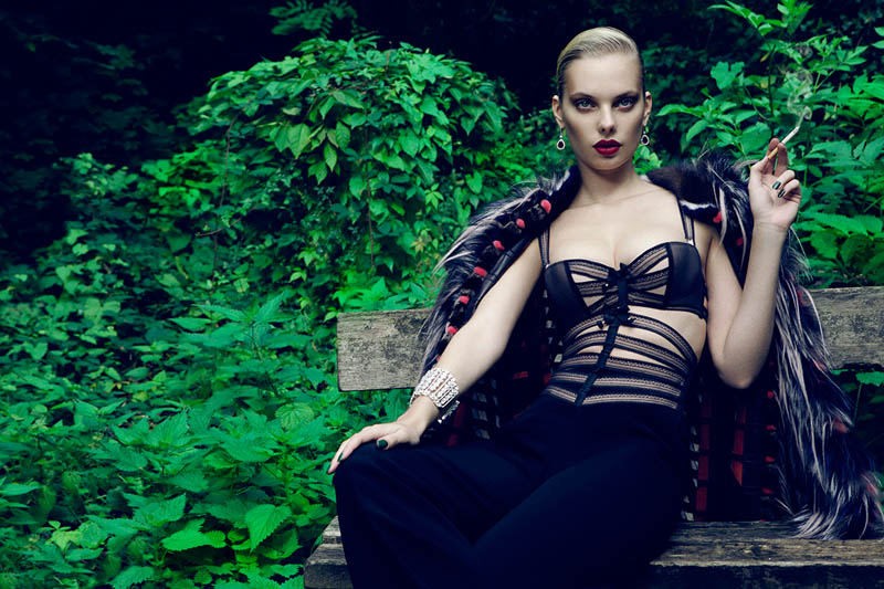 Dioni Tabbers Gets Sultry for L'Officiel Ukraine Shoot by Jenny Brough
