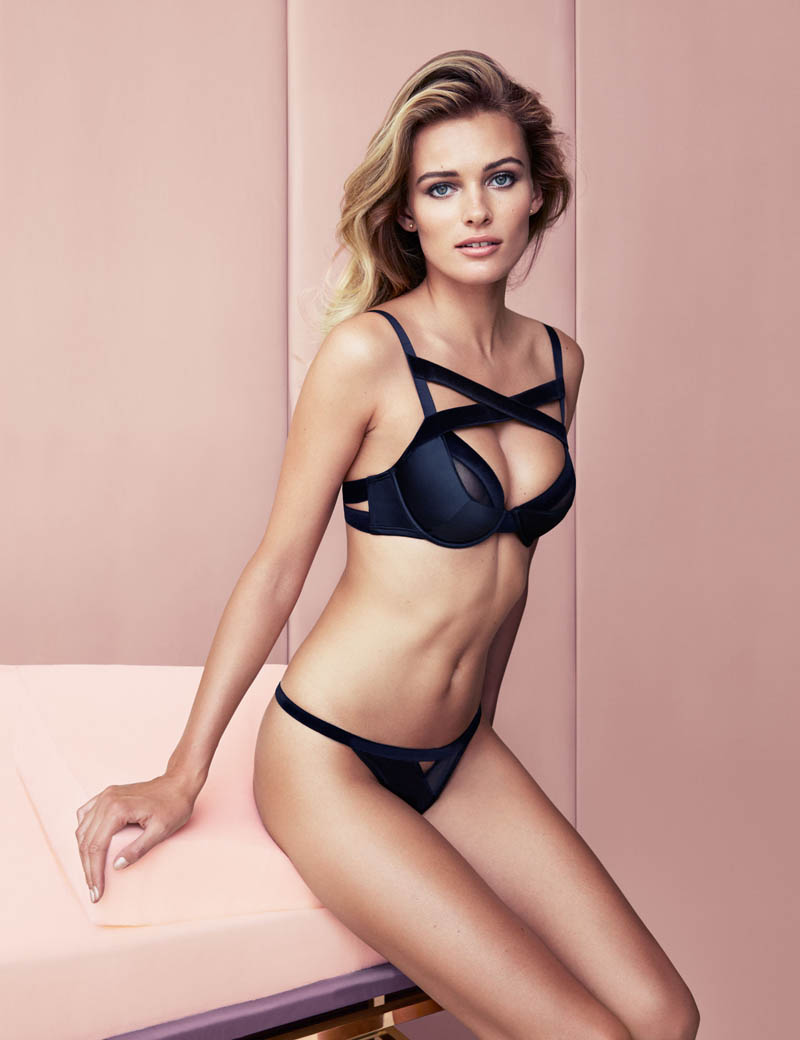 edita hm inner beauty1 Edita Vilkeviciute Shows Off Beauty for H&M Lingerie Shoot