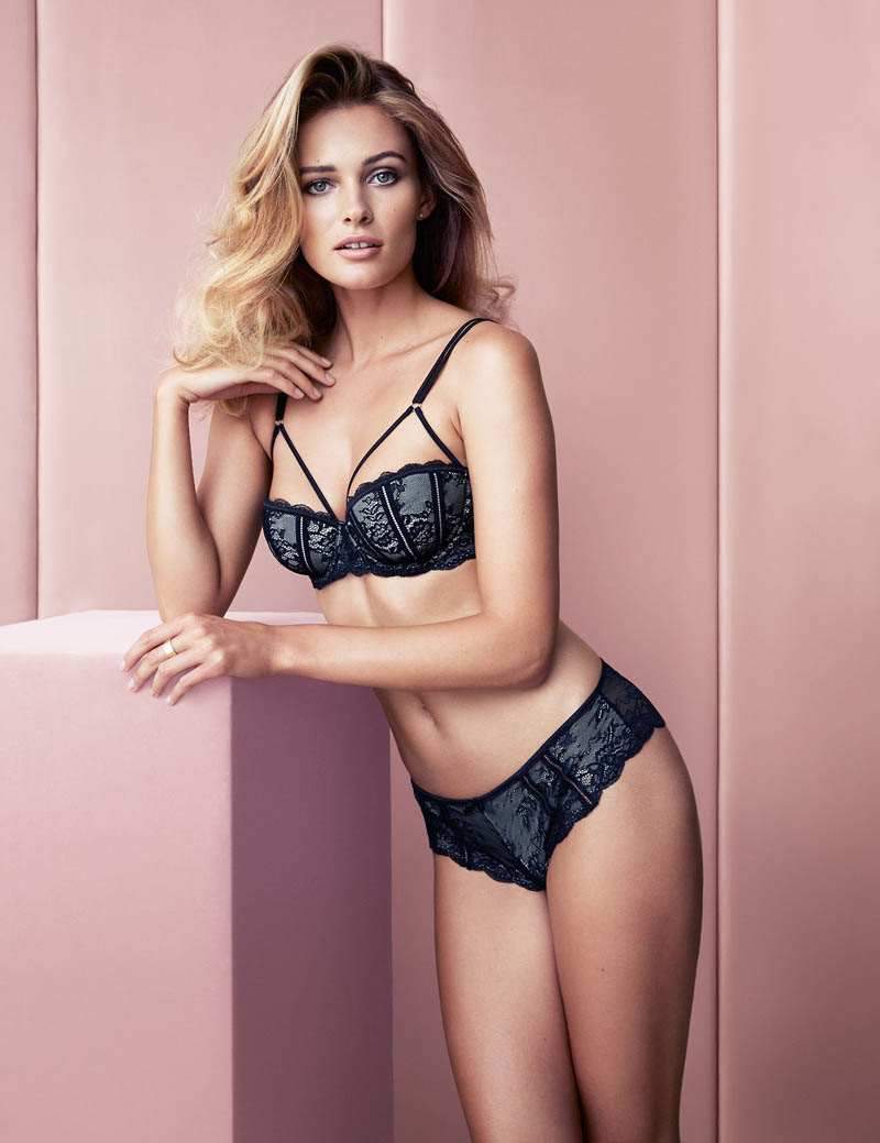 edita hm inner beauty2 Edita Vilkeviciute Shows Off Beauty for H&M Lingerie Shoot