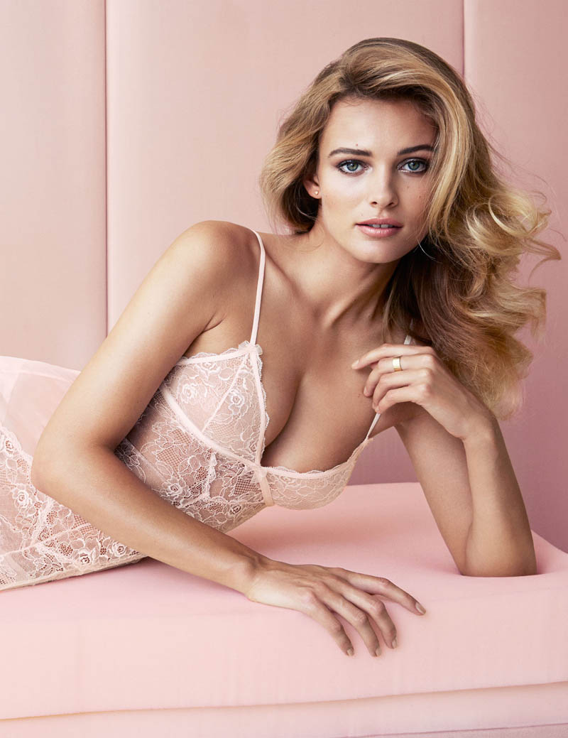 edita hm inner beauty4 Edita Vilkeviciute Shows Off Beauty for H&M Lingerie Shoot