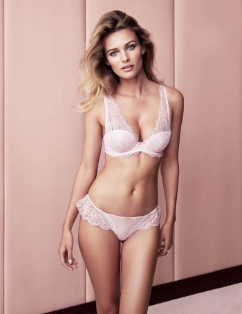 Edita Vilkeviciute Shows Off Beauty for H&M Lingerie Shoot