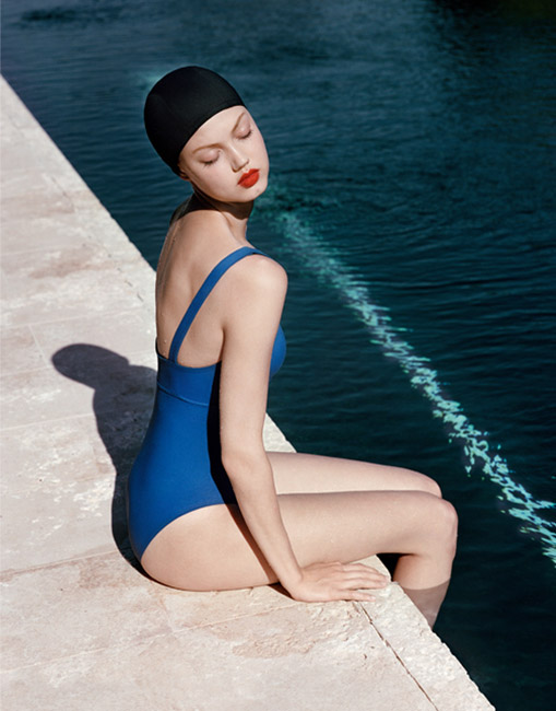 eres resort 2014 3 Lindsey Wixson Models Swimwear for Eres Resort 2014 Campaign