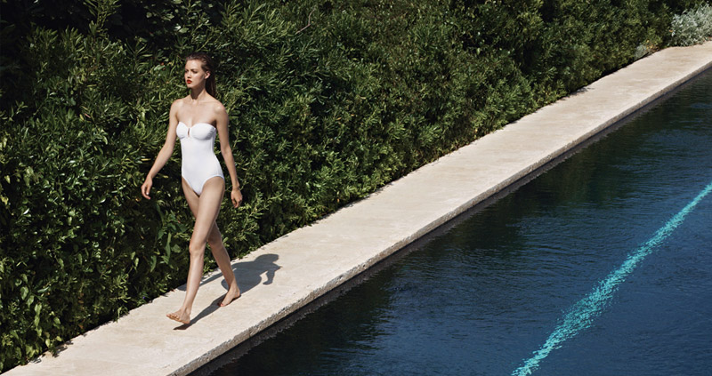 eres resort 2014 5 Lindsey Wixson Models Swimwear for Eres Resort 2014 Campaign