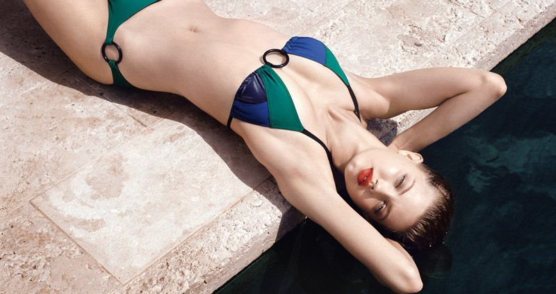 eres resort 2014 6 Lindsey Wixson Models Swimwear for Eres Resort 2014 Campaign