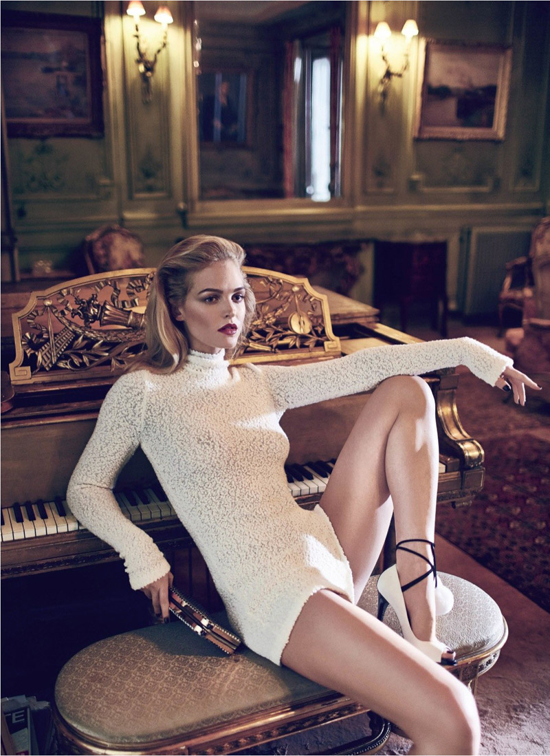 erin heatherton koray birand7 Erin Heatherton Plays Seductress for Koray Birand in Elle Russia Shoot