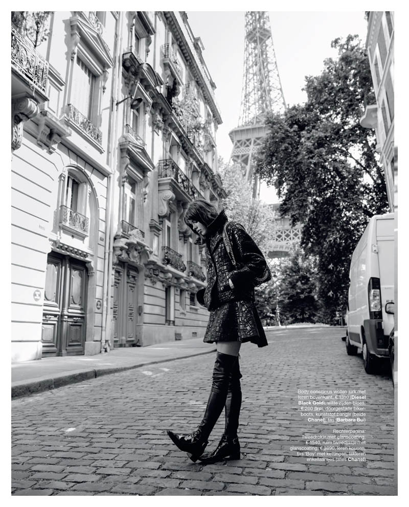 eva doll model1 Eva Doll Poses in Paris for Marie Claire Netherlands by Dennison Bertram