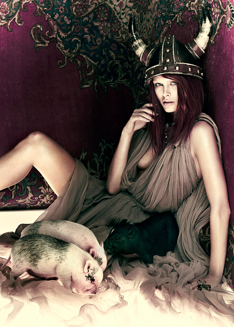 Pamela Bernier is Fairy Tale Chic for Fashion Spread by Chris Nicholls
