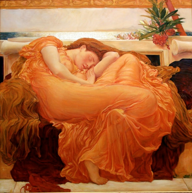 flaming june Jessica Chastain is Like a Painting for Vogues December 2013 Cover
