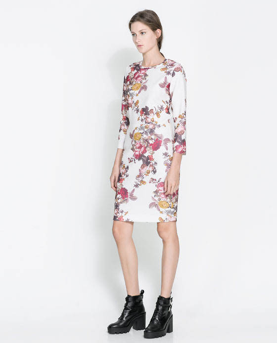 floral dress Black Friday Savings at Zara