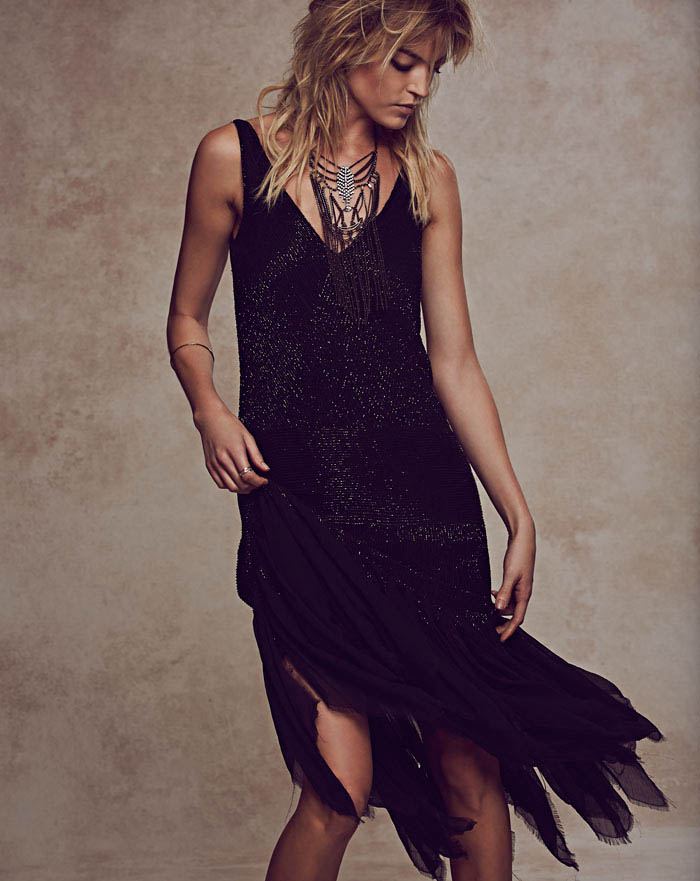 free people holiday1 Martha Hunt Charms in Free Peoples Holiday 2013 Shoot