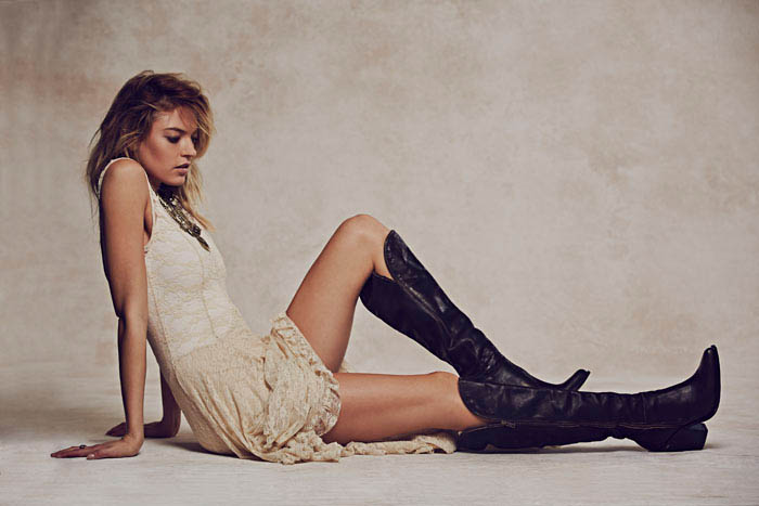 Martha Hunt Charms in Free People's Holiday 2013 Shoot