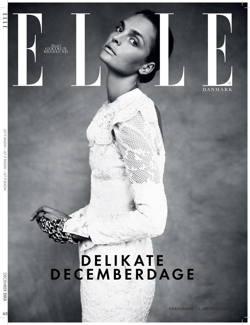 gertrud elle shoot11 Gertrud Hegelund Stars in Elle Denmark December 2013 Cover Story