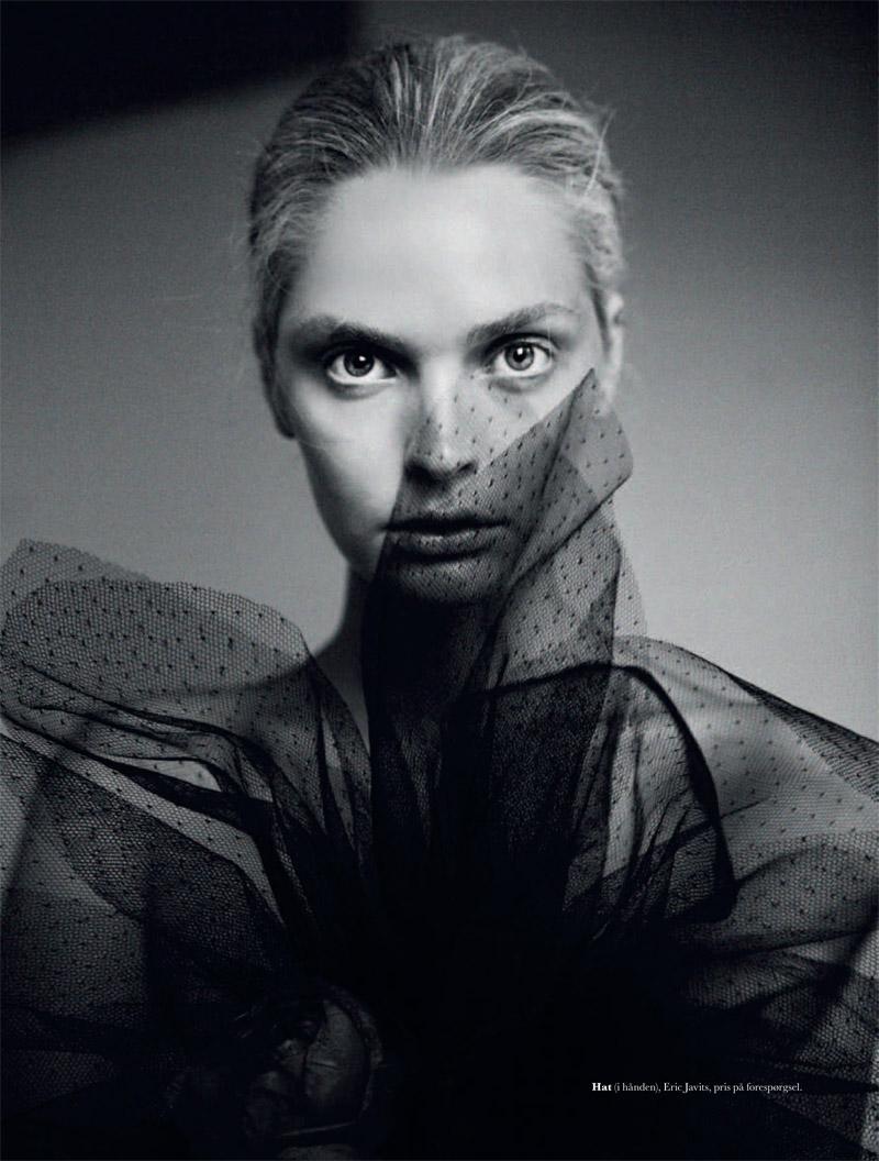 gertrud elle shoot7 Gertrud Hegelund Stars in Elle Denmark December 2013 Cover Story