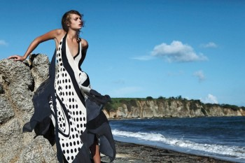 Gertrud Hegelund Models Colorful Prints for Bergdorf Goodman Resort