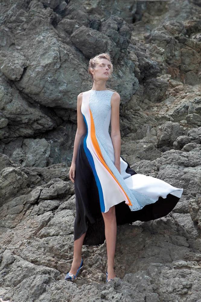 Gertrud Hegelund Models Colorful Prints for Bergdorf Goodman Resort