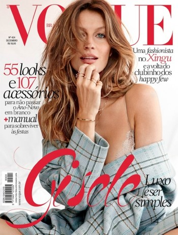 Gisele Bundchen Lands Vogue Brazil December 2013 Cover