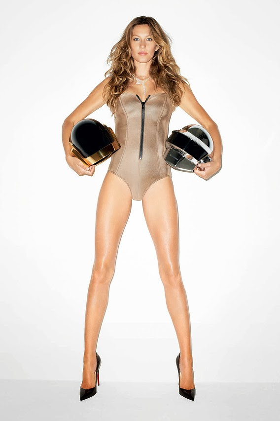 gisele bundchen terry richardson2 See More Photos of Gisele Bundchen + Daft Punk by Terry Richardson for WSJ