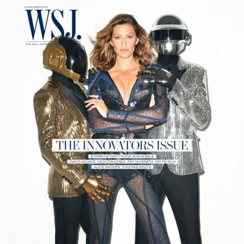 Gisele Bundchen Joins Daft Punk for WSJ November 2013 Cover by Terry Richardson