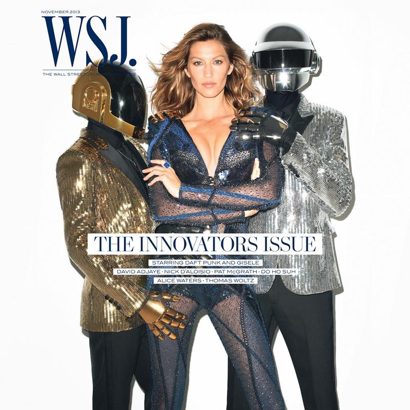 Gisele Bundchen Joins Daft Punk for WSJ November 2013 Cover by Terry Richardson