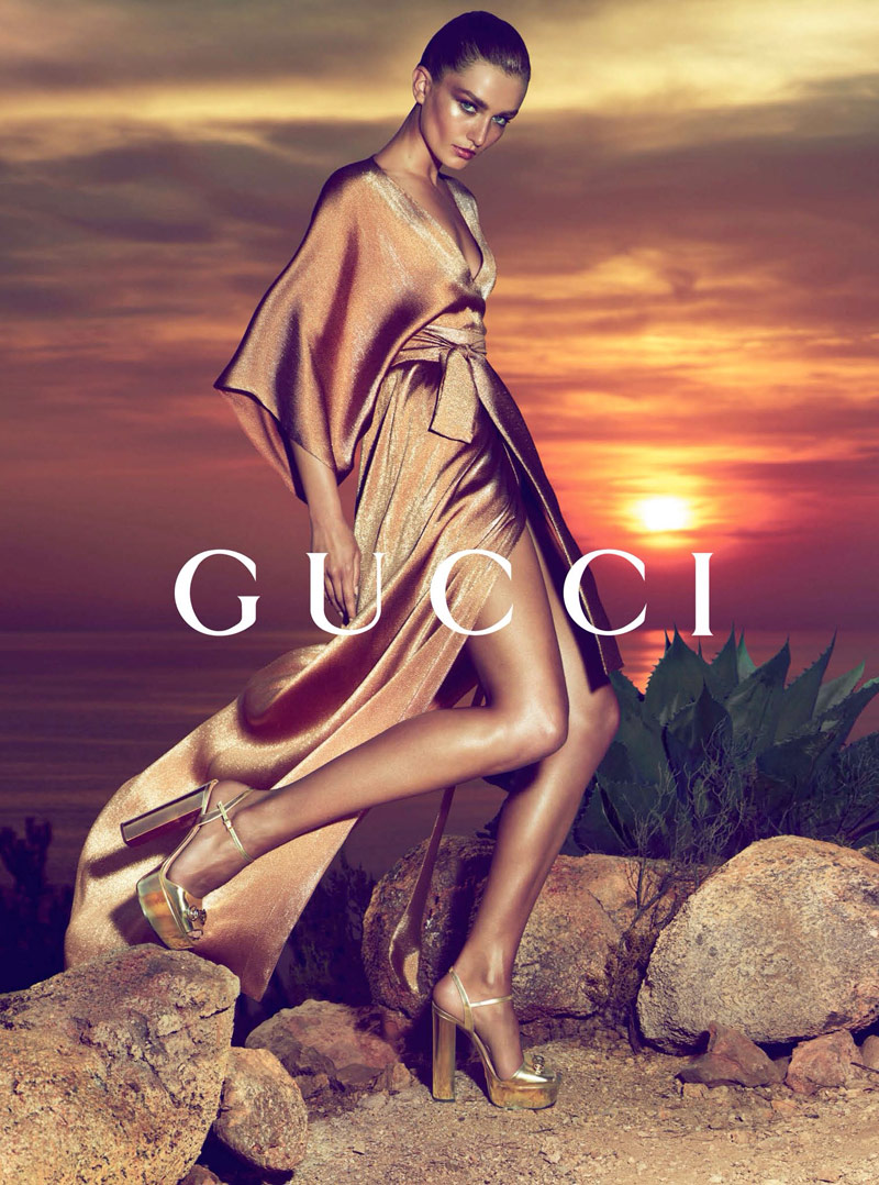 gucci resort 2014 2 Andreea Diaconu Fronts Gucci Resort 2014 Campaign by Mert & Marcus