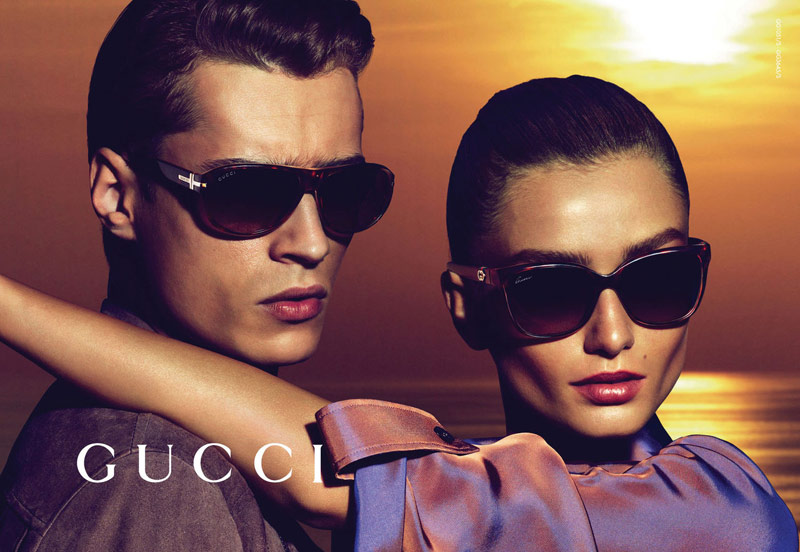 gucci resort 2014 3 Andreea Diaconu Fronts Gucci Resort 2014 Campaign by Mert & Marcus