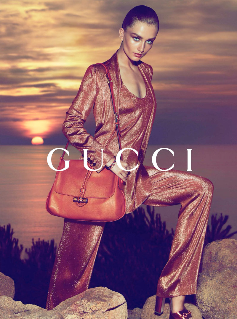 gucci resort 2014 4 Andreea Diaconu Fronts Gucci Resort 2014 Campaign by Mert & Marcus