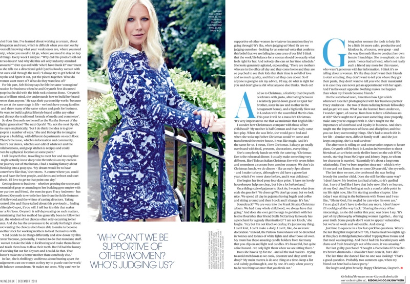 Gwyneth Paltrow Poses for Max Abadian in Red Magazine Cover Shoot