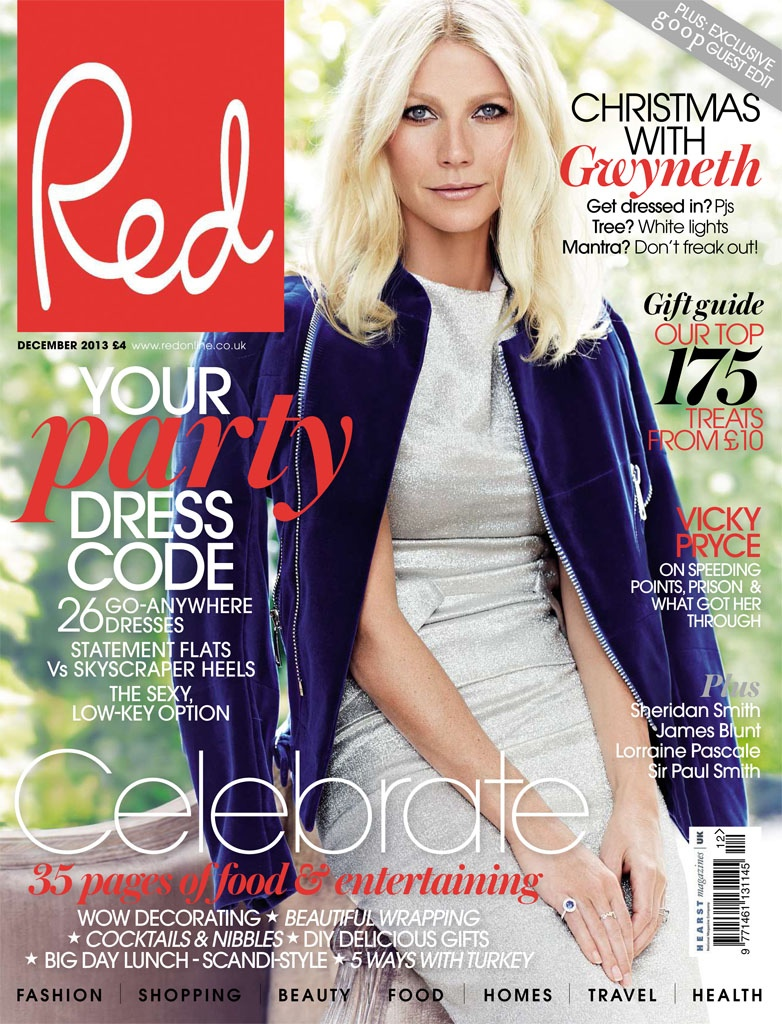 gwyneth paltrow pictures6 Gwyneth Paltrow Poses for Max Abadian in Red Magazine Cover Shoot