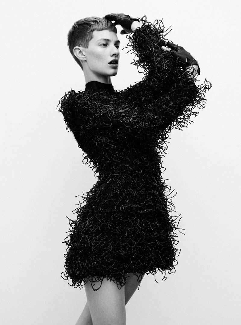 harmony boucher4 Harmony Boucher Wears Cutting Edge Style for Thomas Whiteside in Elle UK