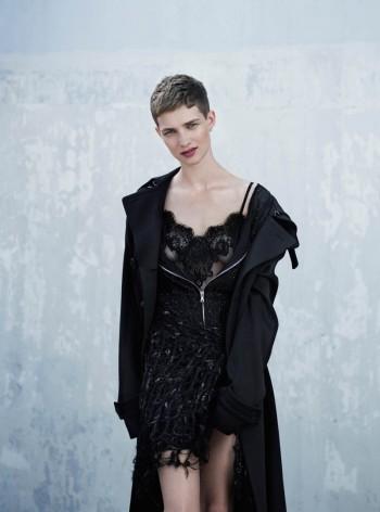 Harmony Boucher Wears Cutting Edge Style for Thomas Whiteside in Elle UK