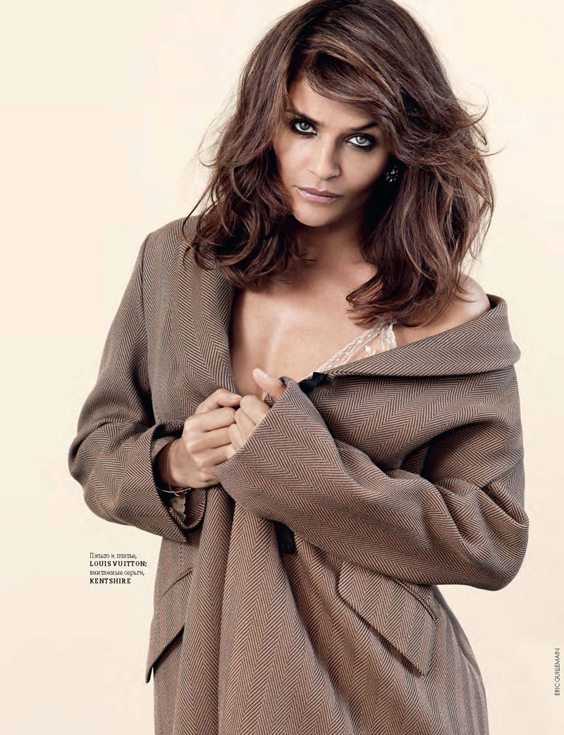 Helena Christensen Shines for Eric Guillemain in Elle Ukraine Shoot