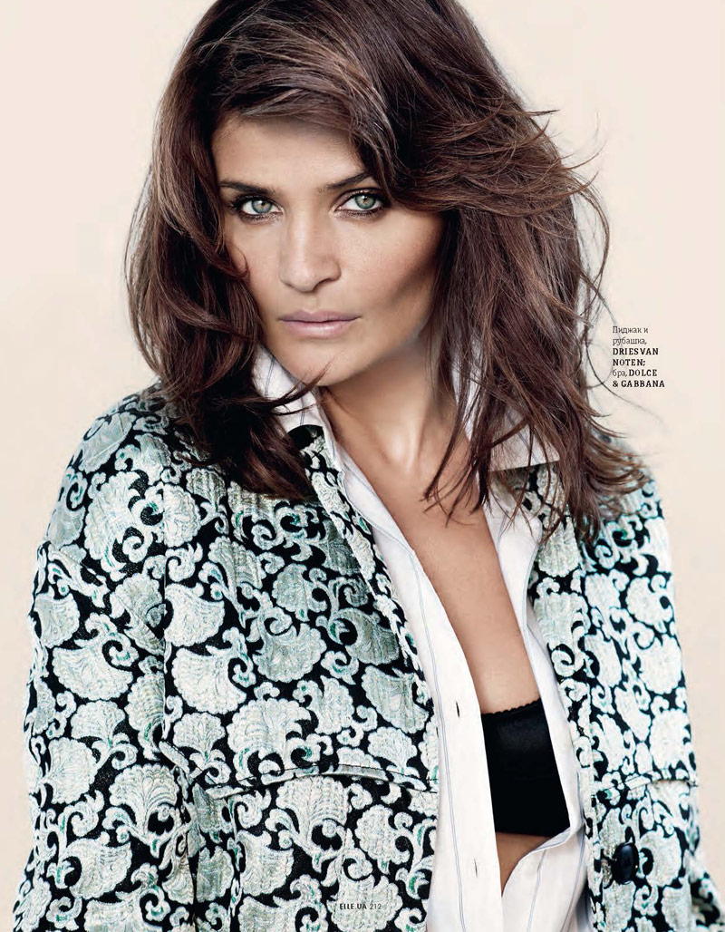 helena christensen pictures8 Helena Christensen Shines for Eric Guillemain in Elle Ukraine Shoot