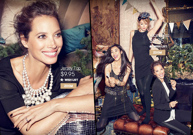 hm christmas Christy Turlington, Liu Wen + Doutzen Kroes Have a Merry Christmas for H&M