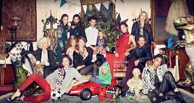 hm christmas2 Christy Turlington, Liu Wen + Doutzen Kroes Have a Merry Christmas for H&M