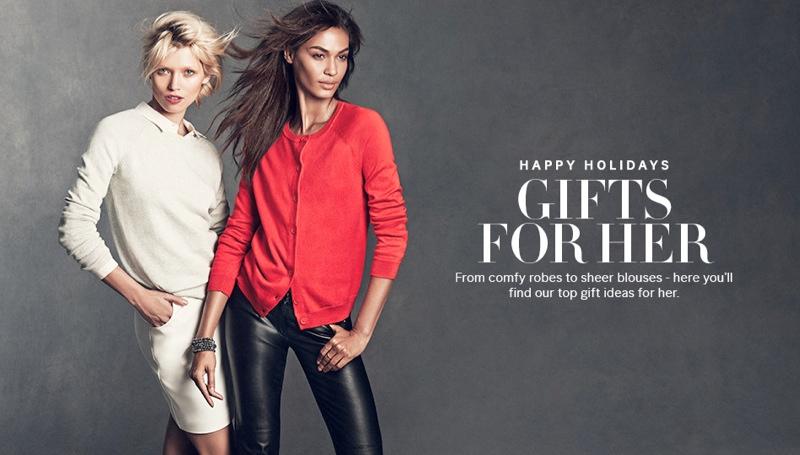 Joan Smalls & Hana Jirickova Star in H&M's Holiday Trend Guide