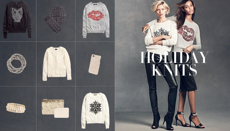 hm gift guide6 Joan Smalls & Hana Jirickova Star in H&Ms Holiday Trend Guide