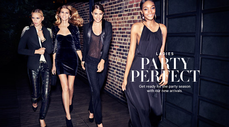 hm night life1 Jourdan Dunn, Cameron Russell + More Star in H&M Trend Shoot