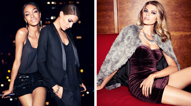 hm night life2 Jourdan Dunn, Cameron Russell + More Star in H&M Trend Shoot