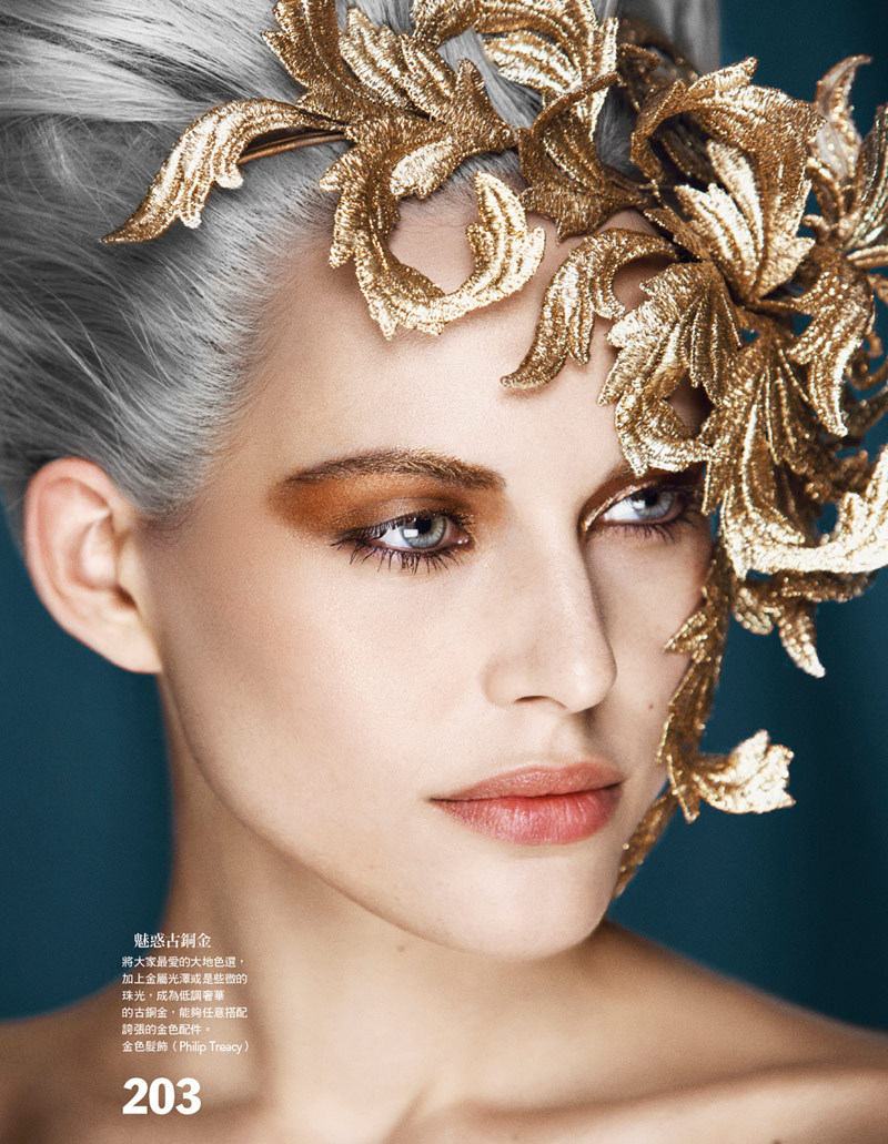 holiday beauty3 Lana Zakocela Wears Holiday Beauty for Vogue Taiwan by Yossi Michaeli