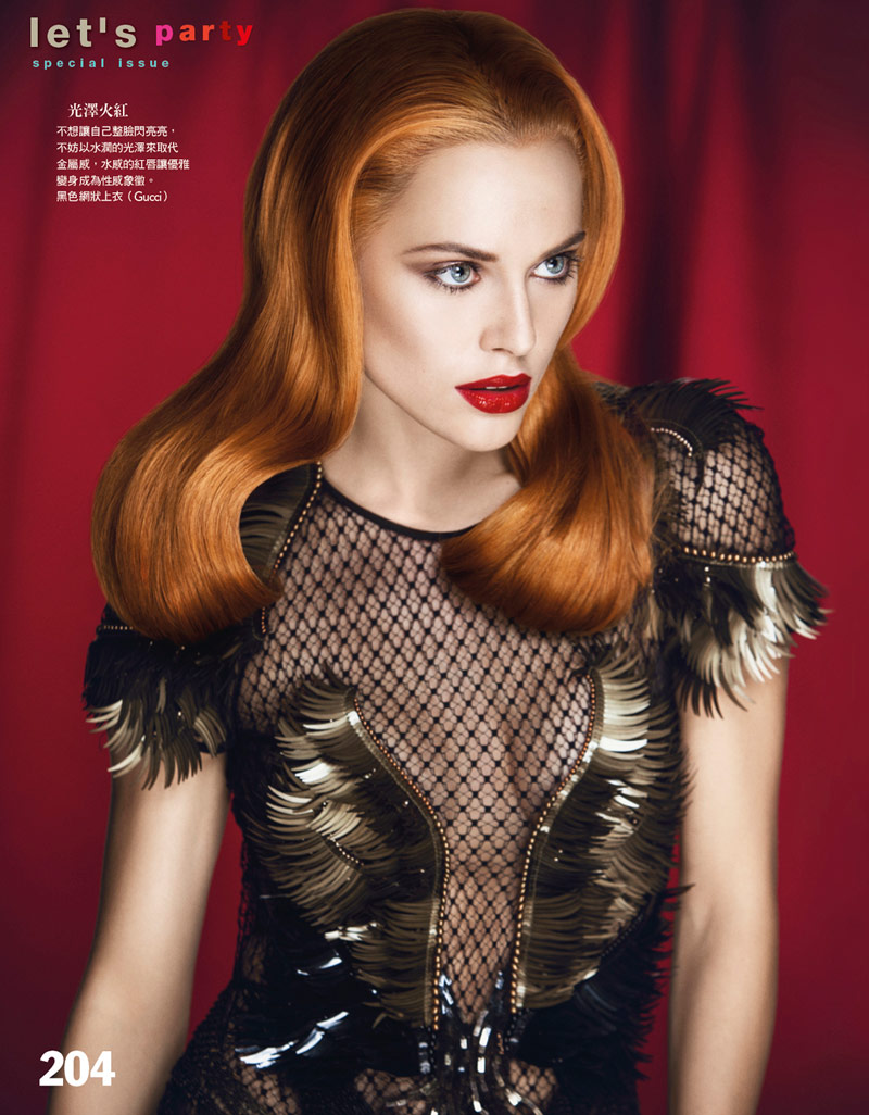 holiday beauty4 Lana Zakocela Wears Holiday Beauty for Vogue Taiwan by Yossi Michaeli